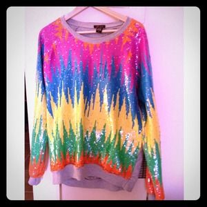 Trend sequin  Colorfull sweater