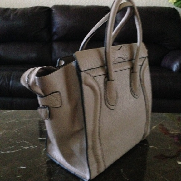 celine bag costs - celine - Taupe and Black Celine Luggage Bag from ! hannah (no ...