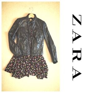 ZARA) Leather Jacket in New Condition