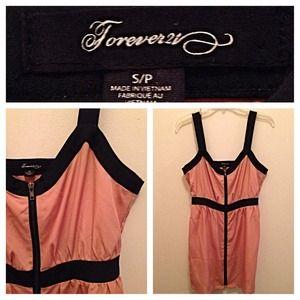 Forever 21 Black & Pink Zip Dress