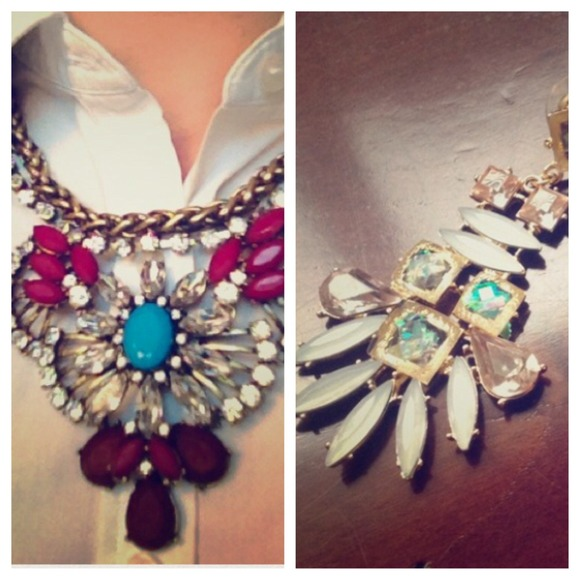 Jewelry - Maroon Dramatic Deco Luxe Necklace