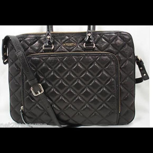 56% off kate spade Handbags - Kate Spade black quilted laptop bag ... : quilted kate spade handbag - Adamdwight.com