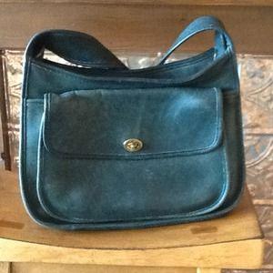 Forest green Coach bag