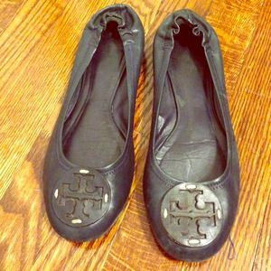 Tory Burch Shoes - Sale! Navy Tory Burch Reva Flats