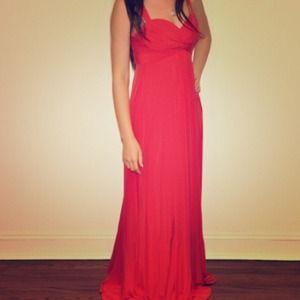 BCBGMaxAzria Dresses & Skirts - BCBG MAXAZRIA long red formal prom gown w/ straps