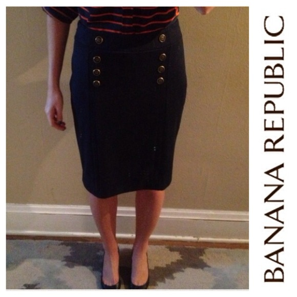 Banana Republic Dresses & Skirts - Navy pencil knit skirt