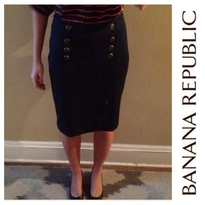 Banana Republic Skirts - Navy pencil knit skirt