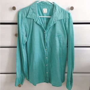 J. Crew Tops - Teal Button Up Shirt