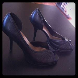 Shoes - Black peep toe high heels