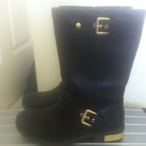 ESPRIT Boots - Black leather boots