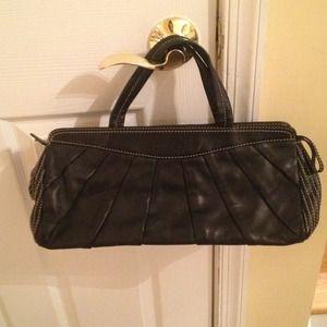 Leonello Borghi Black Leather Bag