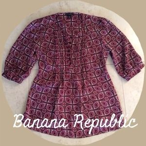 Banana Republic Tops - Banana Republic Burgundy Blouse