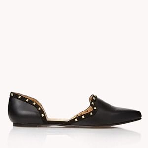 Forever 21 Shoes - F21 D'Orsay Studded Flats