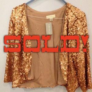 Brand New Plus-Size Gold Sequin Shrug!