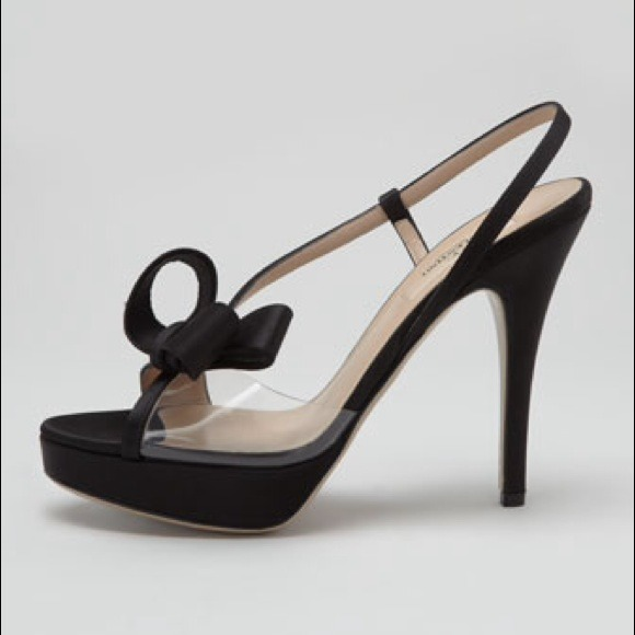 Valentino Shoes - Valentino PVC & Black Satin Bow Sandal 10 NWTB 2