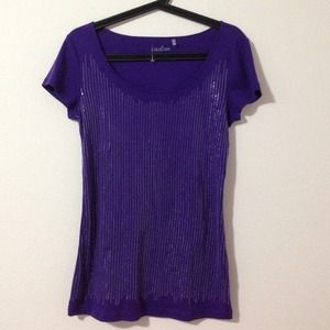Purple Sequin Top -medium