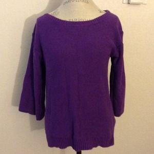 bundledPurple sleeves sweater
