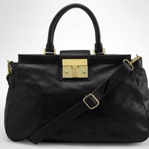 Tory Burch black oversized Satchel