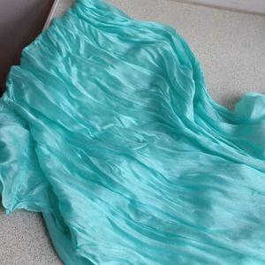 Modcloth infinity scarf bright minty blue