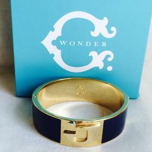 "NEW C. Wonder Navy/Gold ""J"" Bracelet"