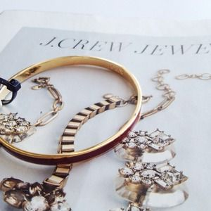 J. Crew Jewelry - J.Crew Burgundy Bangle.