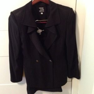 State of Claude Montana Jackets & Blazers - Vintage State of Claude Montana Black Pantsuit!