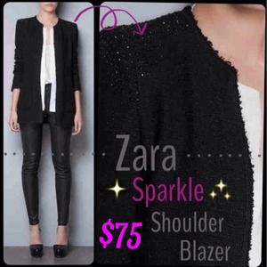 ☆HOST PICK☆ ♡ Zara Sparkled Shoulder Blazer