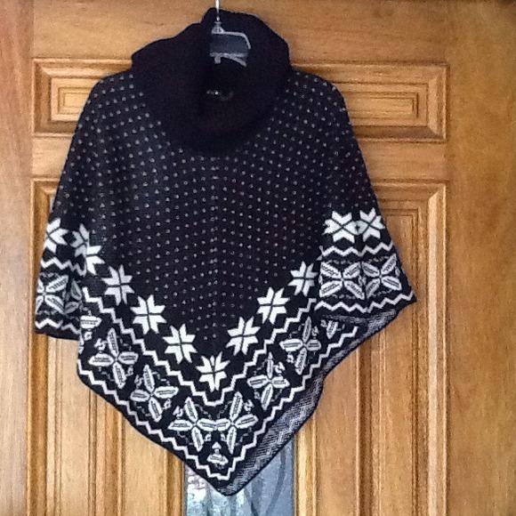 89th & Madison - Bundle Fair Isle Sweater Poncho... from Tori's ...