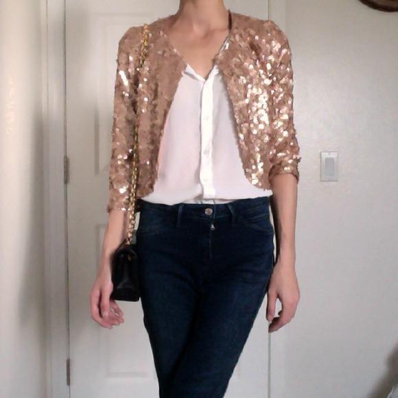 Forever 21 Jackets Amp Coats Host Pick Rose Gold Sequin