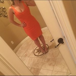 Herve Leger Dresses & Skirts - Authentic coral Herve Leger dress. So flattering!