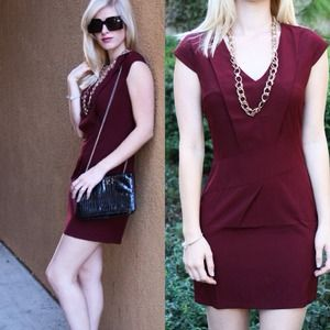 Dresses - Cranberry Holiday Dress