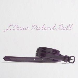 ❌NOT AVAILABLE J. Crew Patent Belt.