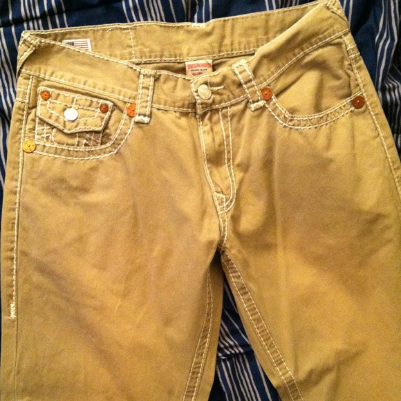 Khaki pants for men by true religion