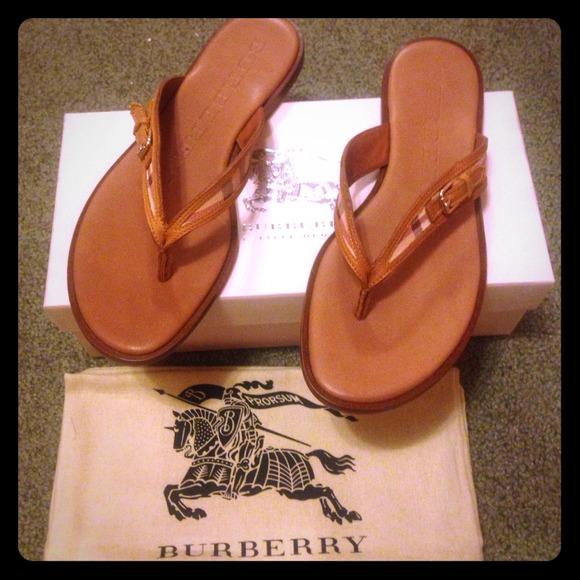 Burberry Haymarket Braid Westmeath Sandals 95f5c1cc0bd46