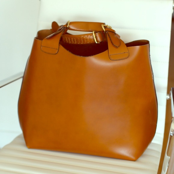 leather tote bags zara