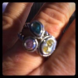 Multi-colored fashion ring