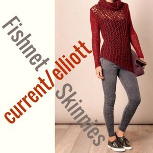"Current/Elliott ""Fishnet"" Skinnies"