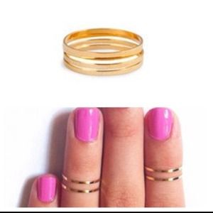 Gold Set Of 4 Above The Knuckle Rings