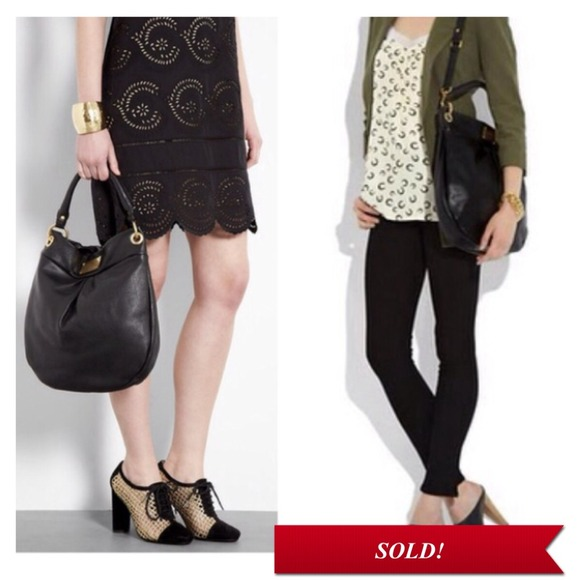 16ad6cdeac9 Marc by Marc Jacobs Bags | Soldmbmj Classic Q Hillier Hobo Black ...