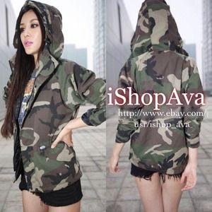 VANS camouflage oversized jacket