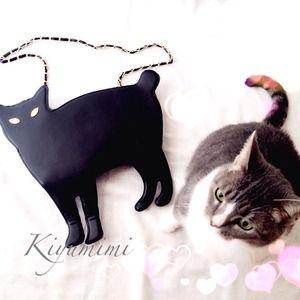 💘💕Posh Finding ❤️💜Black Cat Clutch /Bag 💜💖