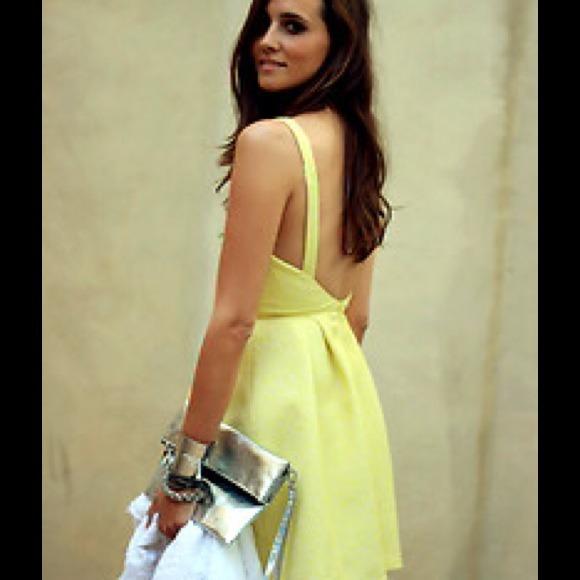 Zara Tulip Dress Zara Yellow Jacquard Dress