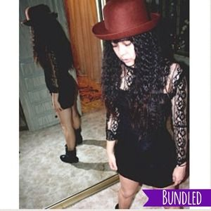 Black Lace Rhinestone Bodycon Dress
