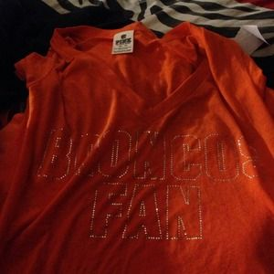 Victoria secret shirt broncos brand new with tags!