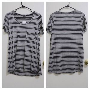 Brand new striped pocket tee