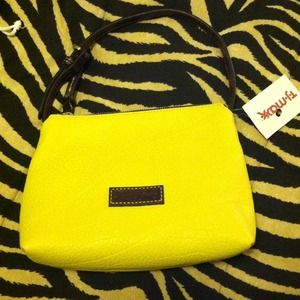 Dooney & Bourke Handbags - Dooney & Bourke yellow small handbag/clutch