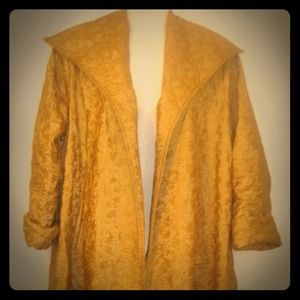 60's Space Age Golden Vinyl Coat