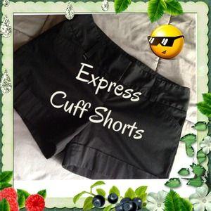 "Express dressy cuff 3"" shorts"