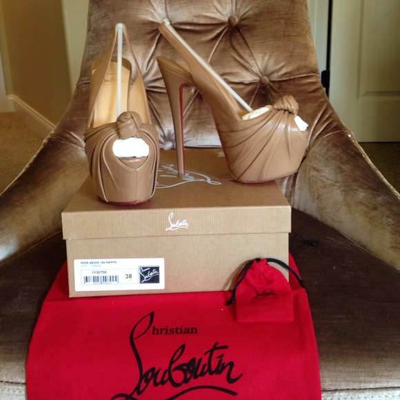 99% off Christian Louboutin Shoes - Louboutin Miss Benin Nappa for ...