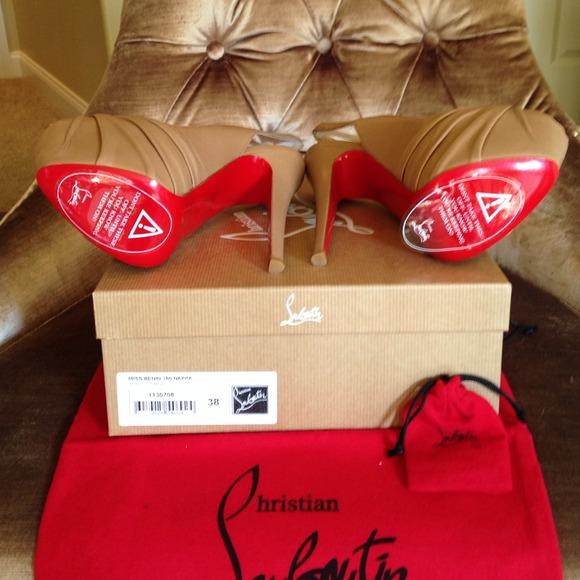 christian louboutin knockoffs cheap - 99% off Christian Louboutin Shoes - Louboutin Miss Benin Nappa for ...